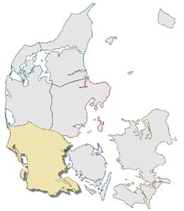 Mentoruddannelse Jylland, Esbjerg Varde Vejen, sydjylland-kort_166